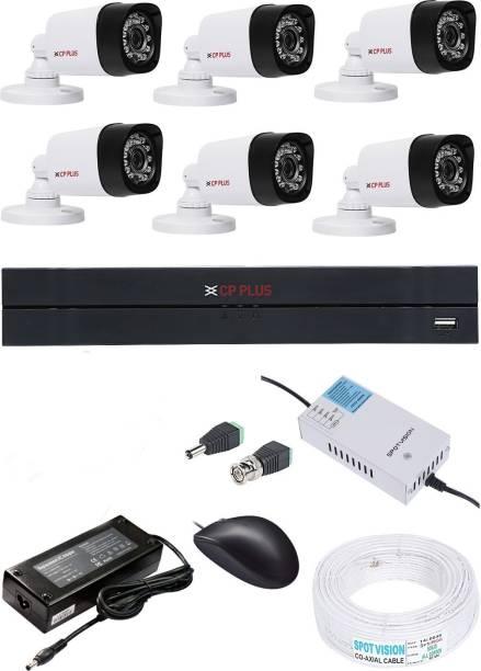 CP PLUS 8 Channel HD 1080p DVR 1Pcs,Bullet camera Weather Proof 1MP 6Pcs.8 CH Power supply 1Pcs,wire bundle 1Pcs,Bnc & Dc Connectors, Security Camera