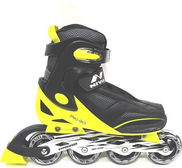 NIVIA Pro 90-2.0 Hyperspeed In-line Skates - Size 7-9 UK