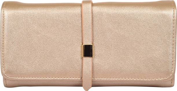 LINO PERROS Women Casual Gold Artificial Leather Wallet