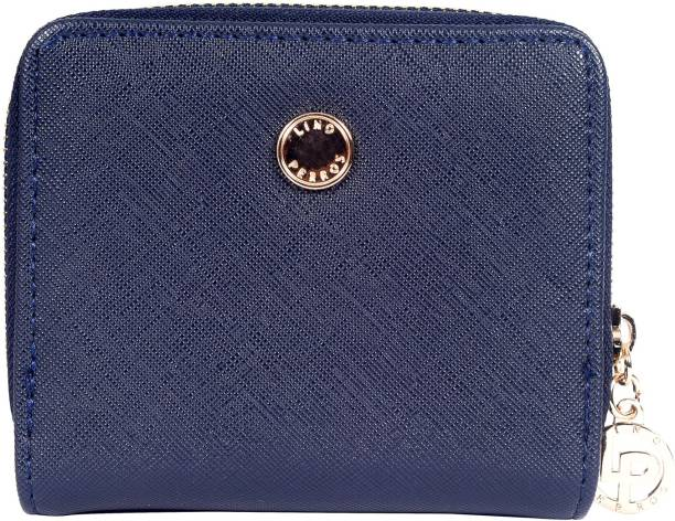 LINO PERROS Women Casual Blue Artificial Leather Wallet