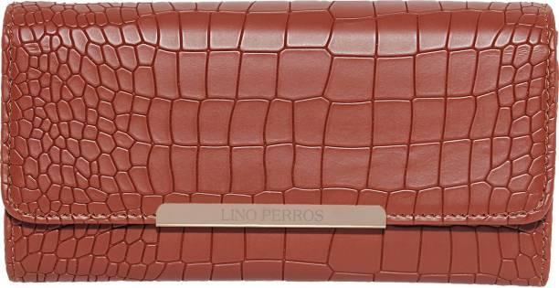 LINO PERROS Women Casual Brown Artificial Leather Wallet