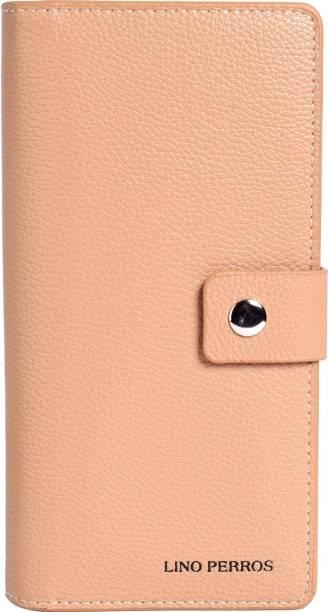 LINO PERROS Women Casual Beige Artificial Leather Wallet