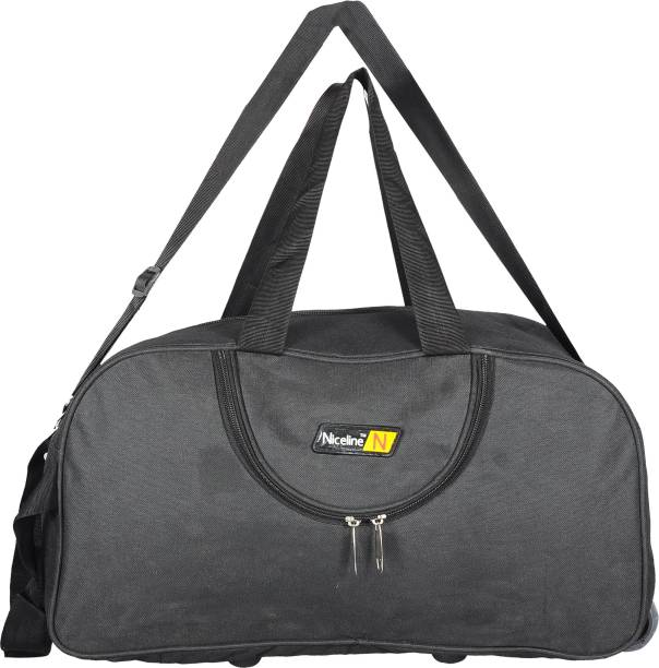 Nice Line (Expandable) (Expandable)Black Polyester 50 litres Inch Travel Duffle  Bag 763832284f0f4
