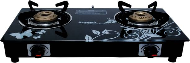 Suryajwala Toughened Glass (For Domestic LPG Cylinder only) Steel Automatic Gas Stove