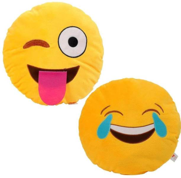 Jassi Toys Smiley Thick Plush Pillow Round Cushion Pillow Stuffed /Gift for Kids/for