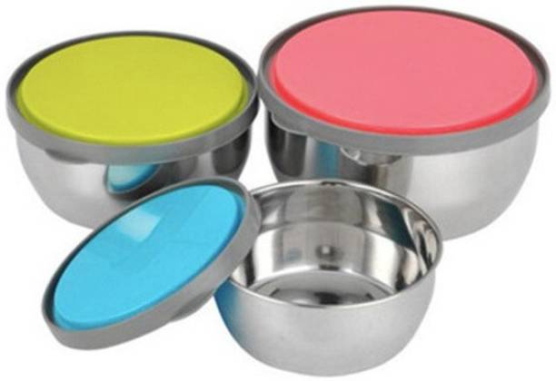 49d26bd2b CASADOMANI Best Quality Stainless Steel Food Storage Airtight   Leak Proof  Containers Set with plastic color