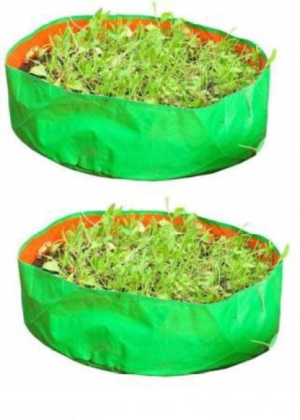 """Coirgarden Terrace Gardening HDPE Grow Bags for Vegetable Plants, Spinach (Keerai, Palak Plant Grow Bags) (18""""x6"""" inches) - [46cms(L) X 15cms(H)] - Pack of 2 Grow Bag"""