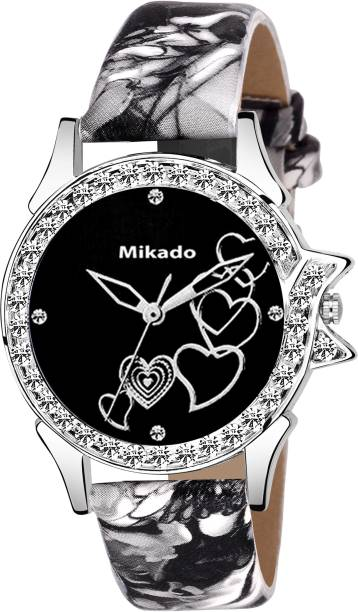 ea561728e Mikado Black Artistic designer watch for Girls And Women Watch - For Girls