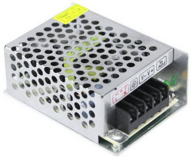 DHRUV-PRO 12 Volts 2 Amp 24W Metal SMPS Power Supply Worldwide Adaptor