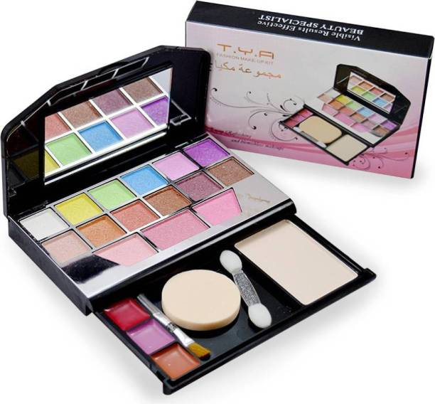 T.Y.A Makeup Kit 12 eyeshadow, 3 blusher, 1 compact powder,3 lipColor,