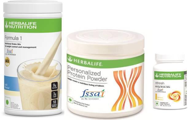 HERBALIFE Nutrition Combo F1 Kulfi Shake, Protein 200 GM & Afresh Lemon Protein Blends