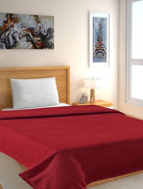 Genius Homes Solid Single Fleece Blanket