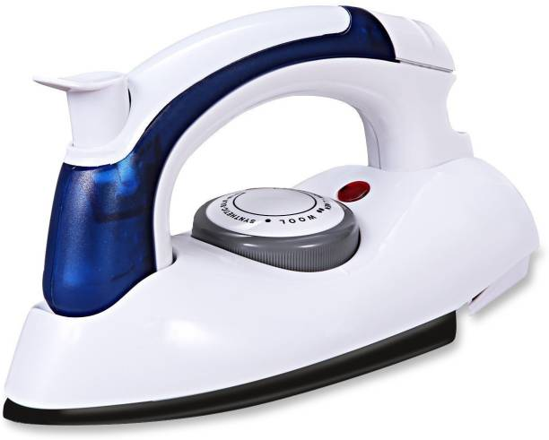 Simxen Portable Foldable Folding Adjustable Thermostatic Compact Handheld Flat Travel Steam Iron Temperature Control Dry Iron 230 Dry Iron