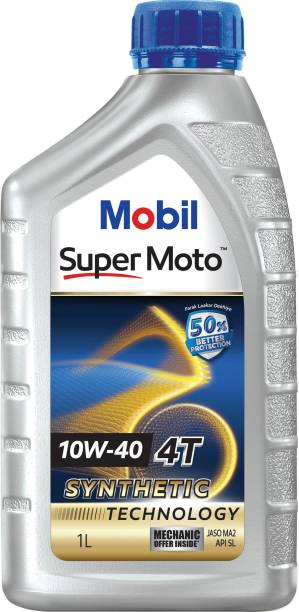 MOBIL Super Moto 10W-40 4T Synthetic Technology Synthetic Blend Engine Oil