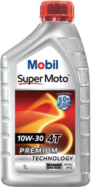 MOBIL Super Moto 10W-30 4T Premium Technology Full-Synthetic Engine Oil