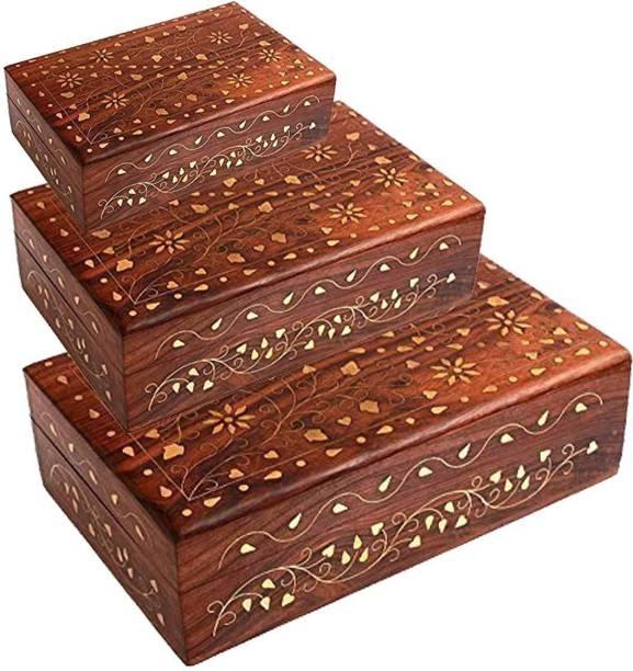 08c51a1df47 Craftatoz Designer Wooden Jewellery Organizer Box for Women Jewellery  Vanity Box