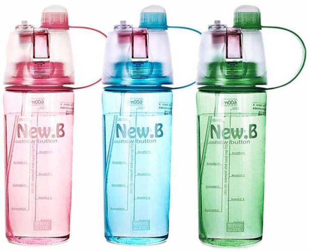 13fdb8c178 Rangoli ® 3 Colors Hot Sale Spray Sport Water Bottle Portable Plastic 600ml  600 Bottle