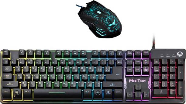 1df1760d3d8 MEETION K-9300 SEMI MECHANICAL GAMING KEYBOARD AND EXTREME 966 MOUSE GAMING  Combo Set