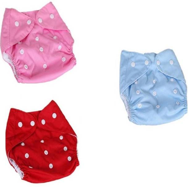 84e5c18fc Xeekart 3 Adjustable Reusable Washable Cloth Diaper Nappies with Inserts  for Babies