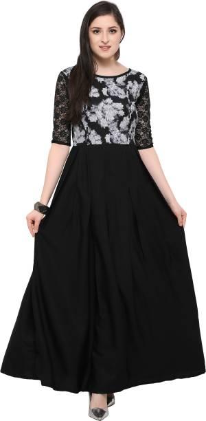 Serene Women S Maxi Black Dress