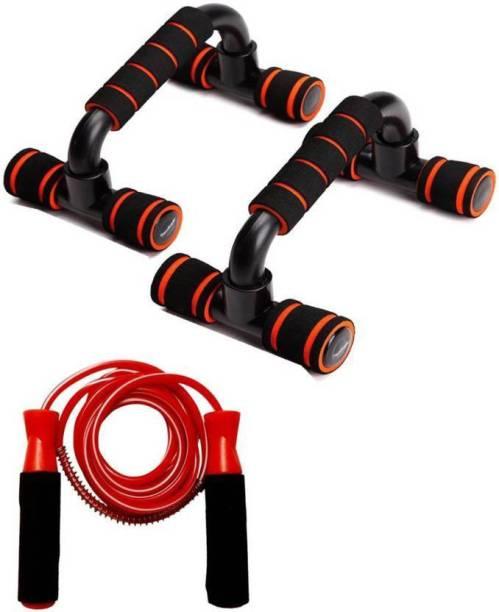 L'AVENIR Push Up Bar, Skipping Rope Gym & Fitness Kit