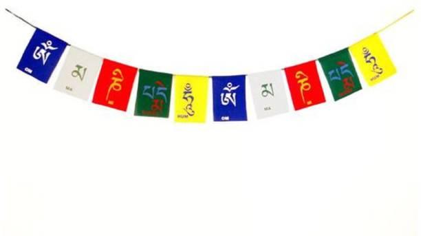 ME&YOU Feng Shui Tibetan Buddhist Prayer Cotton Flag, Ladakh Biker Flag for All bike / car / home / office 96 Cm IZ18TibetanFlag-96Cm-011 Car Hanging Ornament