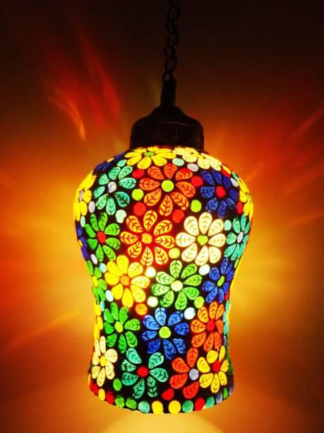 Banke Bihari Glass Handicraft Hand Made Glass Hanging Light Pendants Ceiling Lamp