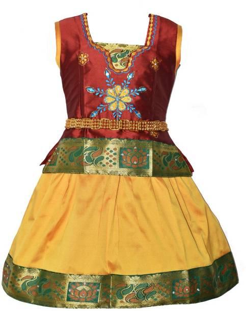 1495ecb7a9 amirtha fashion Girl's Lehenga Choli Ethnic Wear Embellished Lehenga Choli