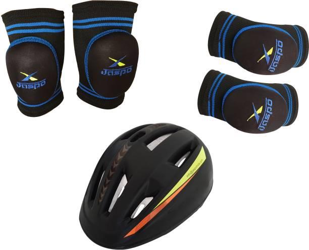 Jaspo B- Safe Guards (Knee,Elbow,Helmet)(medium) Skating Kit