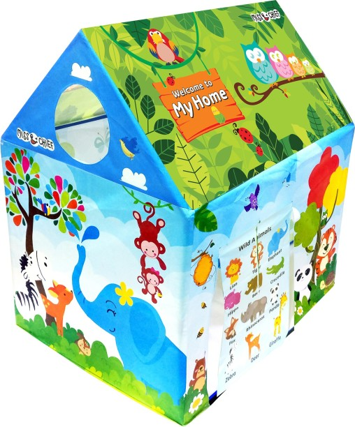 Miss u0026 Chief Play tent house for kids in Jungle theme  sc 1 st  Flipkart & Tents Camping Sets Outdoor Toys - Buy Tents Camping Sets Outdoor ...