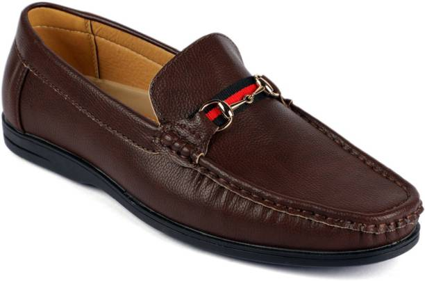 87bda3c81f676e Mr.SHOES Footwear A298-594-COFFEE MEN S LEATHER LOOK CASUAL LOAFERS  MOCCASINS SLIP