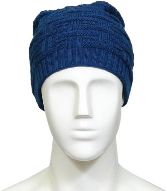 c398d0599cb Shop At Bargain Unisex Woolen Long Beanie Cap for Winter Skull Head Cap