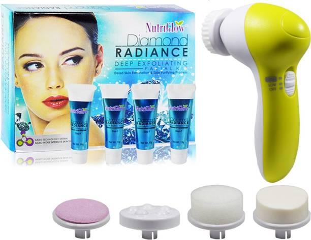 NutriGlow Diamond Facial Kit-55g With Face Massager
