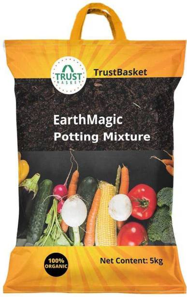 TrustBasket Premium Enriched Organic Earth Magic Potting Soil Mix Fertilizer for Plants - 5Kg Fertilizer