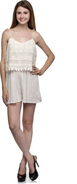 6ec9b9c6eb4 White Jumpsuits - Buy White Jumpsuits Online at Best Prices In India ...
