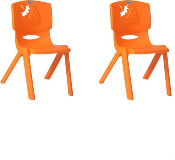 Supreme Strawberry Kids Set Of 2 Chairs,Orange Plastic Living Room Chair