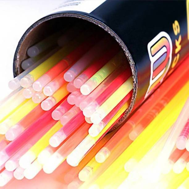 Skywalk Glow Stick (Pack of 100),Light up Toys Glow Stick Bracelets Mixed Colors Party Favors Supplies,Tube of 100,(Diwali Glow Sticks)  Party Glow Ornament