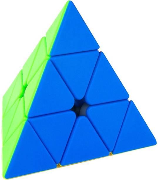Miss & Chief High Speed Stickerless Pyraminx Cube Puzzle Game Toy