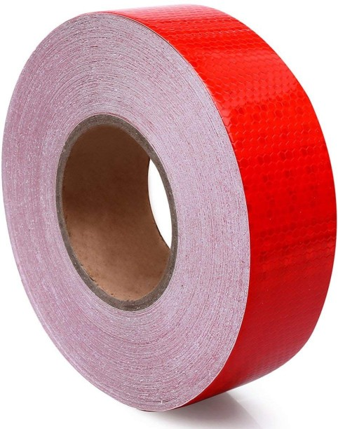 5M X 5 CM HIGH INTENSITY STRONG FOIL INTENSIVE REFLECTIVE REFLEX TAPE RED YELLOW