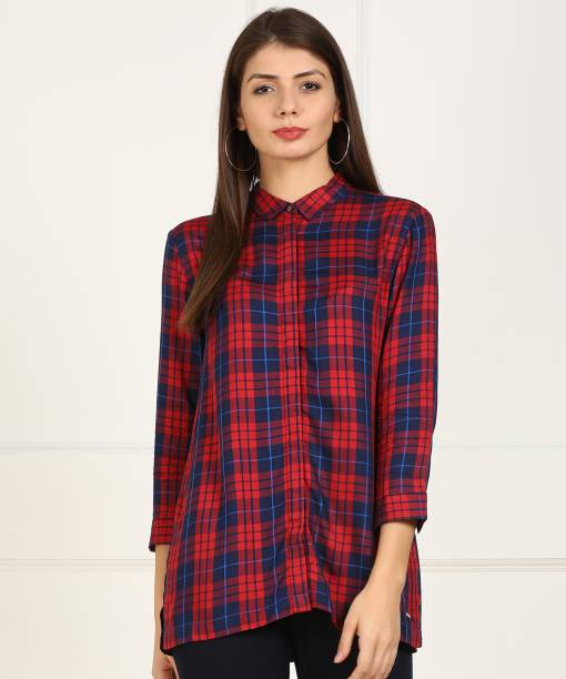 3e9e23248568 Van Heusen Women Checkered Formal Multicolor Shirt