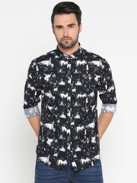 6e1122a6 Showoff Men's Graphic Print Casual Black Shirt