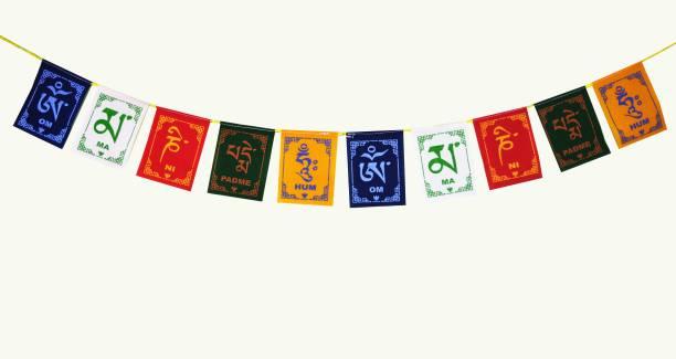 ME&YOU Feng Shui Tibetan Buddhist Prayer Cotton Flag, Ladakh Biker Flag for All bike / car / home / office 96 Cm IZ18TibetanFlag-96Cm-001 Car Hanging Ornament