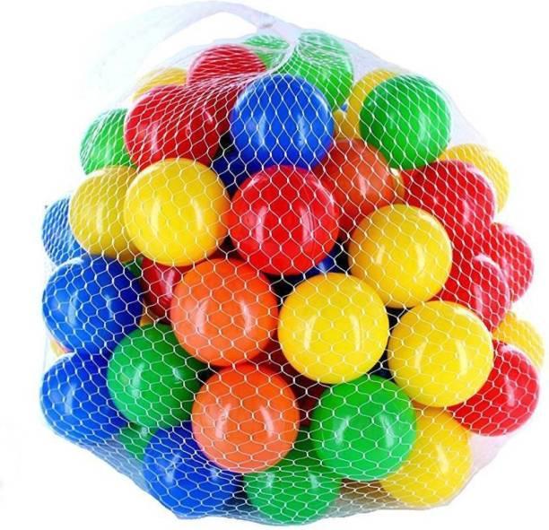 Advancedestore Colorful Balls For Kids Play, set of 24 pcs 8 CM each (Multicolor) Bath Toy