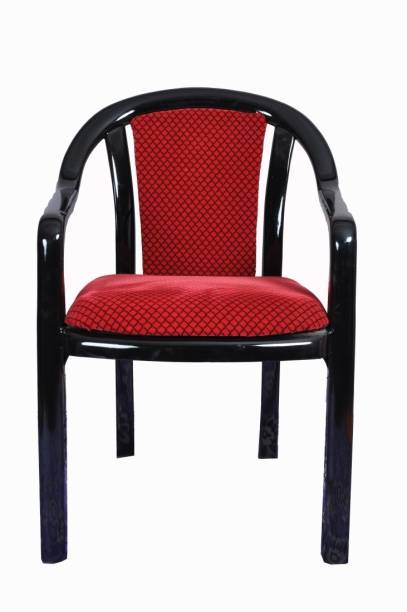 Supreme Ornate-Black/Red Plastic Dining Chair