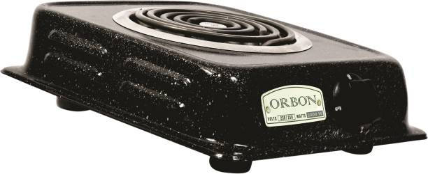 Orbon 2000 Watt Rectangular Marble Vitreous Black G Coil Stove Hot Plate Induction Cooktop Electric Cooking Heater