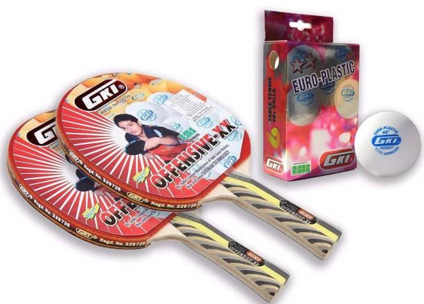 GKI Offensive XX and Euro plastic combo Table Tennis Kit