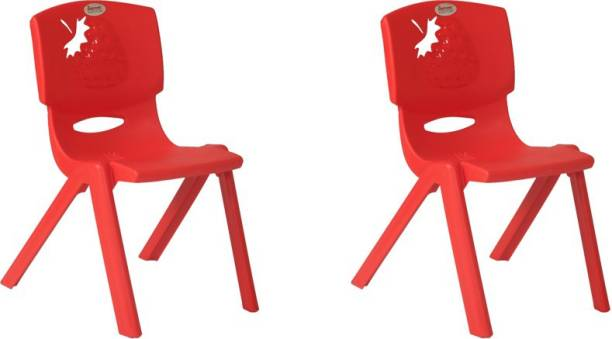 Supreme Strawberry Kids Set Of 2 Chairs,Red Plastic Living Room Chair