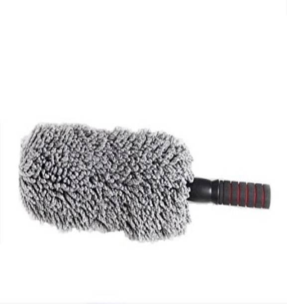 OAN Round Shaped Microfiber Extendable Handle Interior Exterior Multipurpose Cleaning Brush for Car and Home Wet