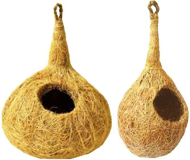 ZENRISE set of 2 coconut fiber nest Bird House