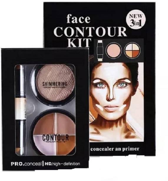 Kiss Beauty Concealer Highlighter Contour Kit Concealer